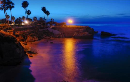 La Jolla cove by night 2014