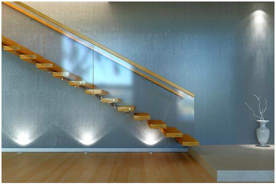 Beautiful blue light - interior home